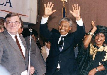 Nelson and Winnie Mandela at AFL-CIO Headquarters