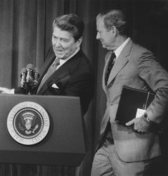 President Reagan Responds to Reporters Questions