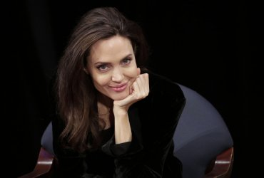 Angelina Jolie at Asia Society discussion on Cambodia