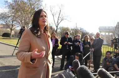 Press Secretary Sanders Talks to the Press