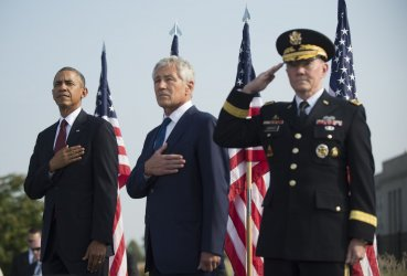 President Obama attends a 9/11 Remembrance Ceremony at the Pentagon in Virginia