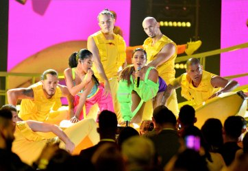 Becky G and Anitta perform at the Billboard Latin Music Awards in Las Vegas