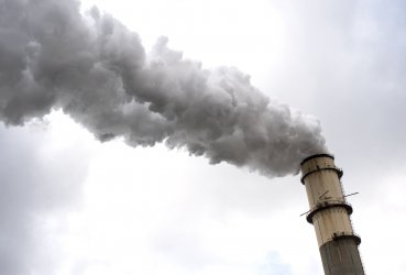 Smoke Stacks at a Coal Power Plant in Florida
