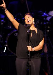 Queen Latifah performs in concert in West Palm Beach, Florida