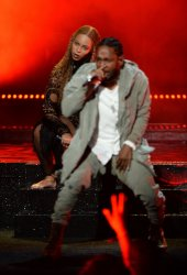 Beyonce and Kendrick Lamar perform at the BET Awards in Los Angeles