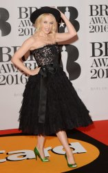 Kylie Minogue attends the Brit Awards in London