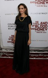 """Angelina Jolie arrives for the """"In The Land of Blood and Honey"""" Premiere in New York"""