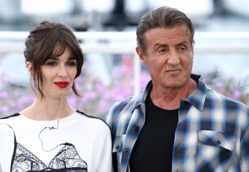 Paz Vega and Sylvester Stallone attend the Cannes Film Festival