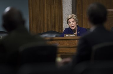 Sen. Elizabeth Warren on Marines United Website in Washington