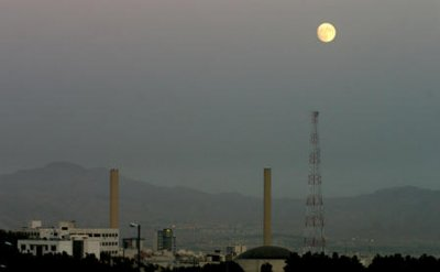 A view of the full moon