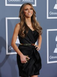 Giuliana Rancic arrives at the 54th annual Grammy Awards in Los Angeles