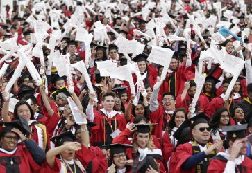 Graduates react and celebrate at Rutgers Graduation