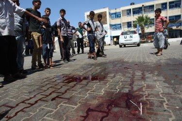 An Apparent Israeli Air Strike Kills Ten at a UN School in Gaza