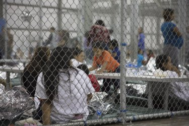 People are Housed at the Border Patrol Central Processing Center in McAllen, Texa