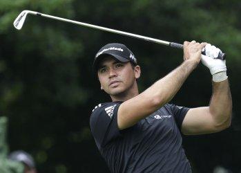 Jason Day of Australia hits his tee shot at the PGA