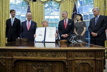 "President Trump signs the ""'Orrin G. Hatch-Bob Goodlatte Music Modernization Act'"