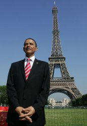Obama's wax figure unveiled in Paris