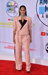 Tracee Ellis Ross attends 46th annual American Music Awards in Los Angeles