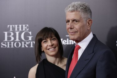 Anthony Bourdain arrives at the Premiere of The Big Short