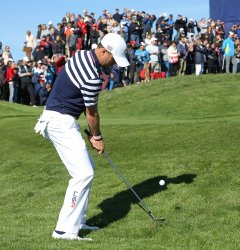 Justin Thomas practice session at the Ryder Cup 2018