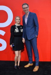 """Stephen Merchant and Mircea Monroe attend the """"Good Boys"""" premiere in Los Angeles"""