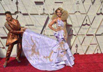Jenifer Lewis and Shangela arrive for the 91st Academy Awards