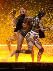 Beyonce performs at the BET Awards in Los Angeles