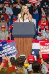 Laura Trump Speaks at a President Trump Rally