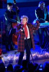 Rod Stewart performs during the Rockefeller Center Christmas Tree Lighting Ceremony in New York