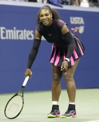 Serena Williams smiles at the US Open