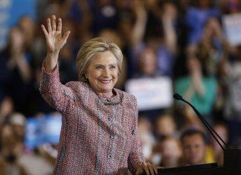 Hillary Clinton campaigns in Greensboro, North Carolina