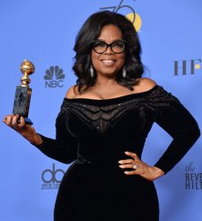 Oprah Winfrey, honored with the Cecil B. DeMille Award at the 75th annual Golden Globe Awards in Beverly Hills