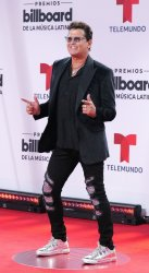 Carlos Vives walks the red carpet at the 2020 Latin Billboard Awards in Sunrise, Florida