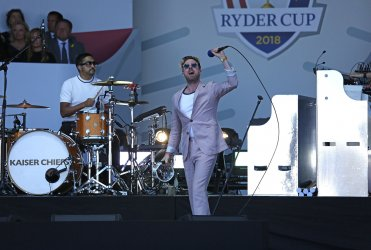 Kaiser Chiefs perform at the Ryder Cup 2018 Opening Ceremony
