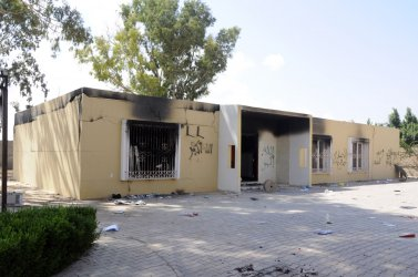 Damage At The United States Consulate in Libya