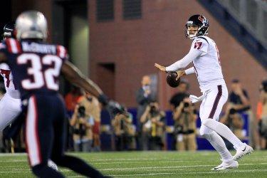 Texans quarterback Brock Osweiler against Patriots
