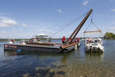 Duck Boat That Sank Killing 17 is Raised from Table Rock Lake