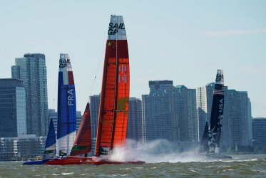 New York SailGP on the Hudson River in New York