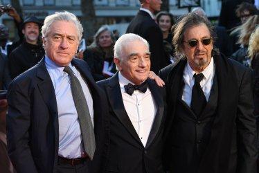 The Irishman premiere at the 63rd London Film Festival.