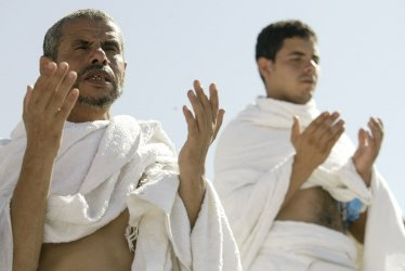 Muslims pilgrims in Mecca for Hajj