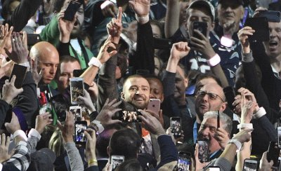 Justin Timberlake performs in crowd during Super Bowl LII in Minneapolis