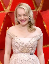 Elisabeth Moss arrives for the 90th annual Academy Awards in Hollywood