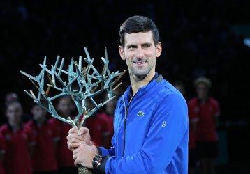 Novak Djokovic wins the Rolex Paris Masters
