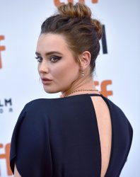 Katherine Langford attends 'Knives Out' premiere at Toronto Film Festival