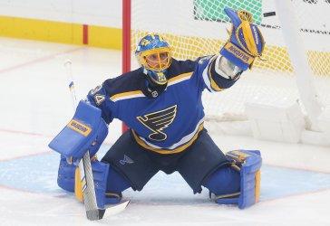 St. Louis Blues goaltender Jake Allen