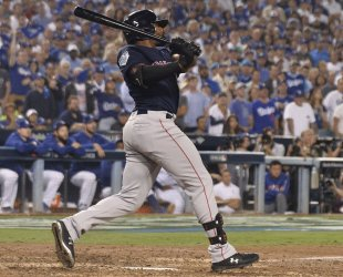 Red Sox Bradley, Jr. ties game with solo homer in Game 3 of the World Series