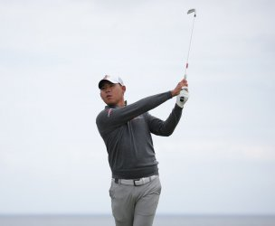 Siwoo Kim on the 1st day of the Open Championship at Royal Portrush