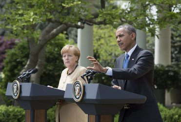 President Obama and German Chancellor Merkel hold a joint press conference in Washington, D.C.