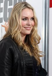 Lindsey Vonn arrives on the red carpet for the premiere of The Bounty Hunter at the Ziegfeld Theater in New York