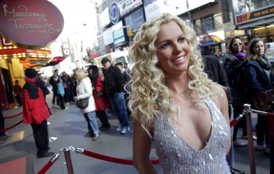 Britney Spears new wax figure in New York